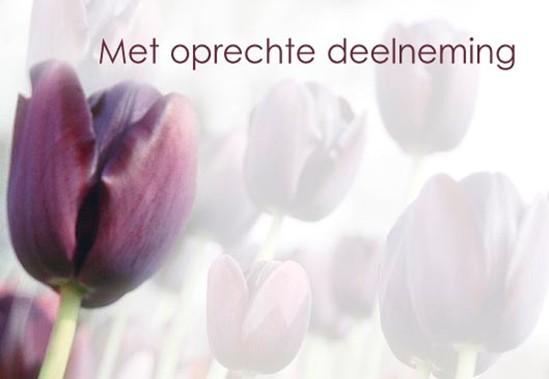 met oprechte deelneming - single cards - nederlands-talig - bloemen